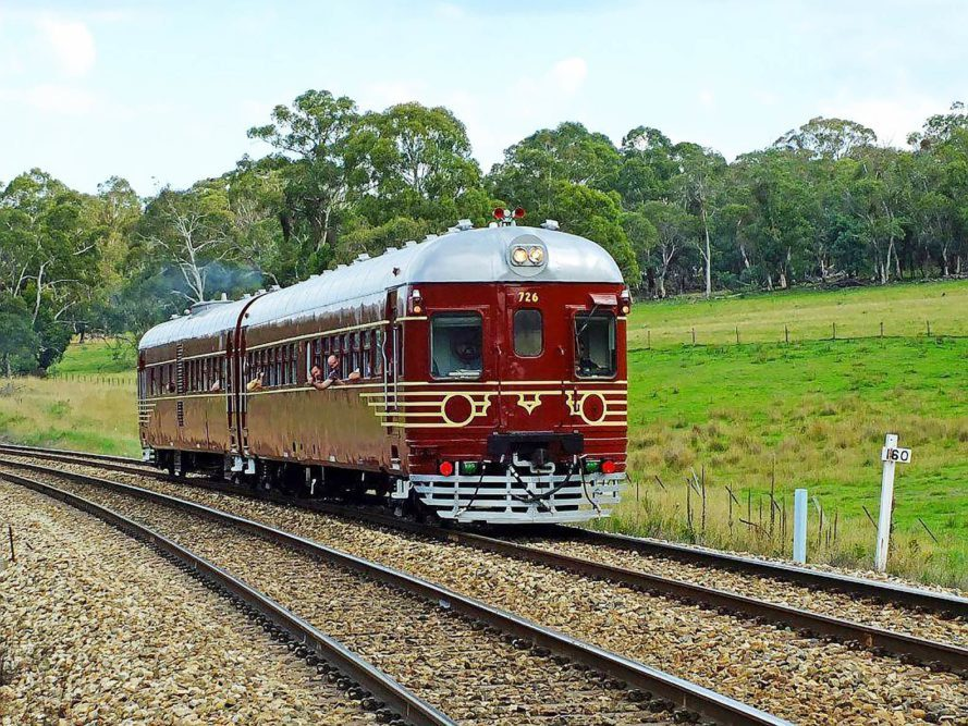 The solar train owned by Byron Bay