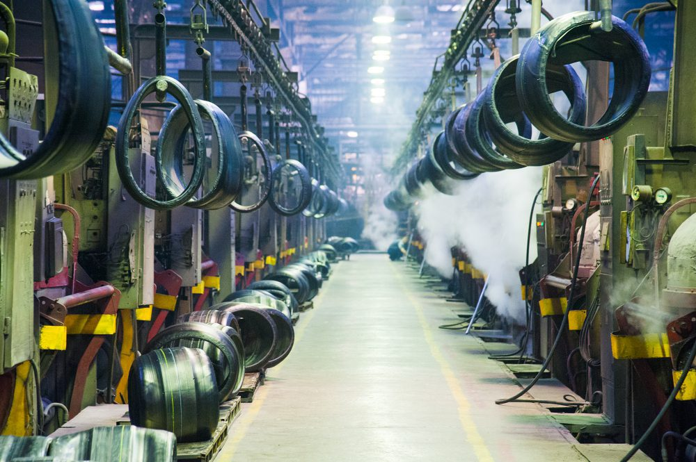 Inside a tire production facility